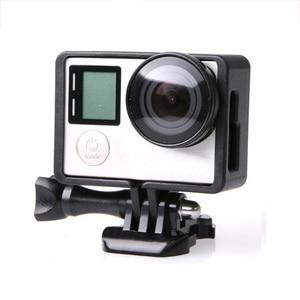 Image 1 - ملحقات GoPro لـ GoPro Hero 4 3 + 3 إطار حماية الحدود غلاف كاميرا الفيديو الإسكان لكاميرا Go Pro Hero4 3 + 3 Action