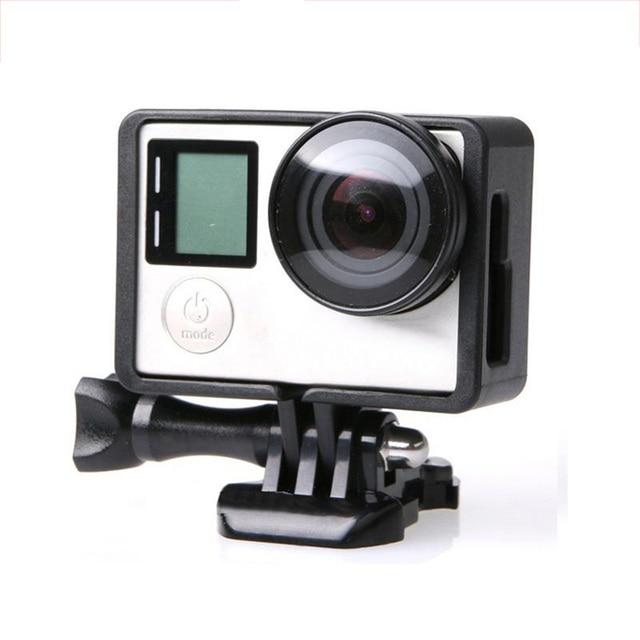 ملحقات GoPro لـ GoPro Hero 4 3 + 3 إطار حماية الحدود غلاف كاميرا الفيديو الإسكان لكاميرا Go Pro Hero4 3 + 3 Action