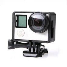 Para GoPro accesorios GoPro Hero 4 3 + 3 borde protector carcasa de Marco videocámara funda carcasa para Go Pro Hero4 3 + 3 Cámara de Acción