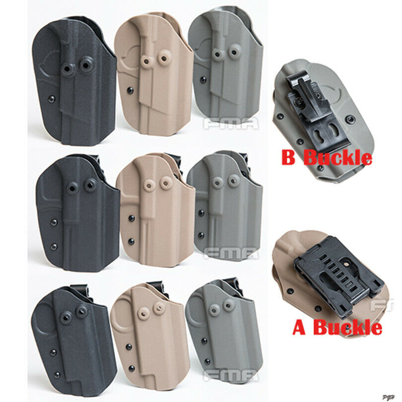 FMA Hunting Tactical Belt Buckle / Belt Clip KYDEX Holster Pouch For 1911/G17/92