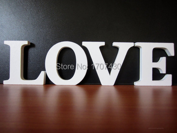Love Wooden Letters Wedding Table Decorations Wood Freestanding Word Sign In Figurines Miniatures From Home Garden On Aliexpress Com Alibaba Group
