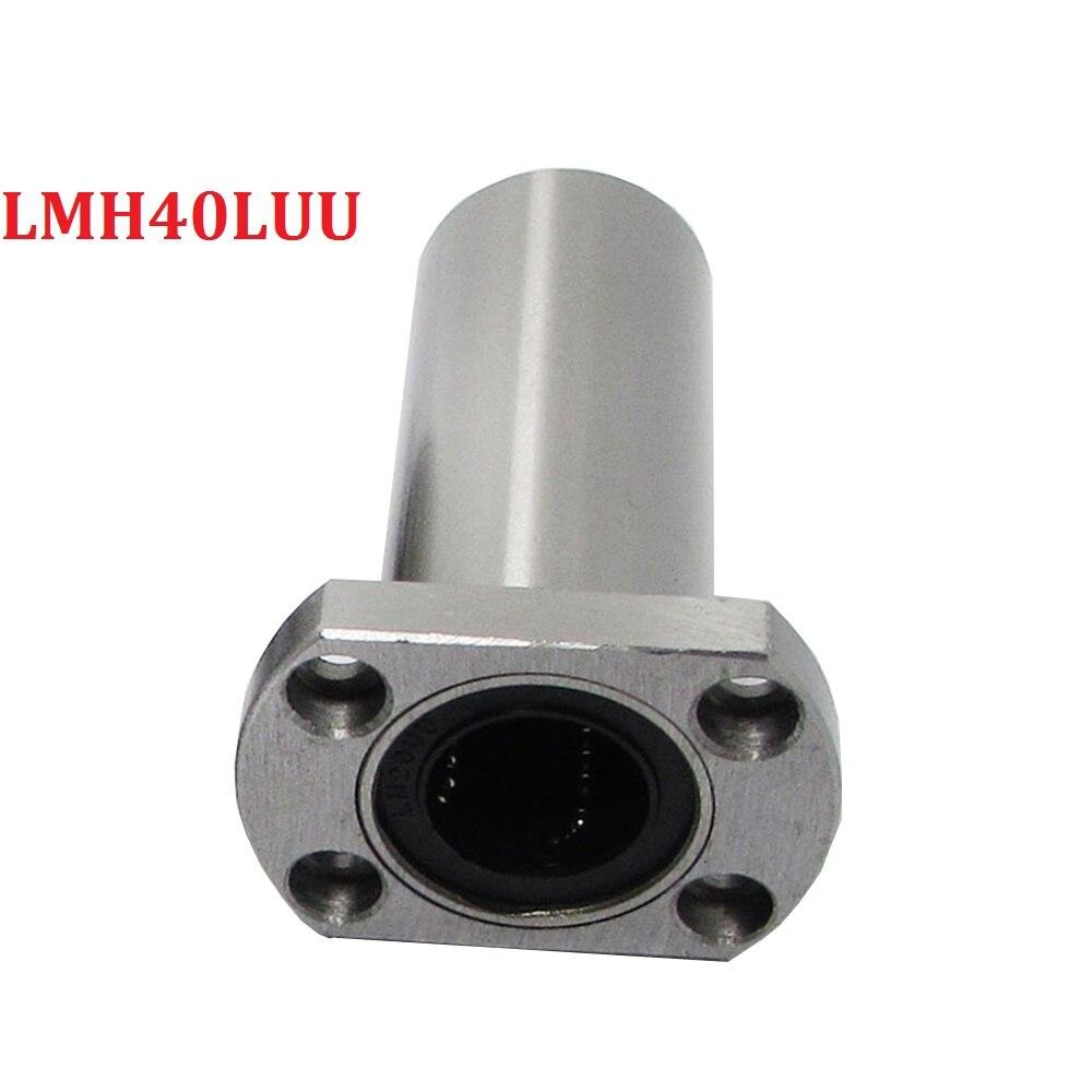 Pack of 1pcs LMH40LUU 40mm Long type Ellipse Flange Type CNC Linear Motion Bushing Ball Bearing 100