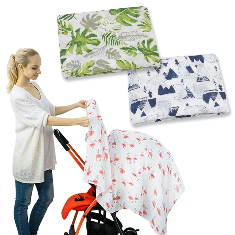 Wholesale 3pcs/lot Muslin 100%Cotton Baby Swaddles Soft Newborn Blankets Bedding Bath Gauze Infant Wrap Sleepsack Stroller Cover