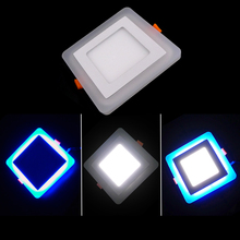 10pcs 6W 9W 16W Acrylic LED Panel Downlight 3 Model Square Panel light Warm Cold White Blue Ceiling Recessed Lamp Indoor Light