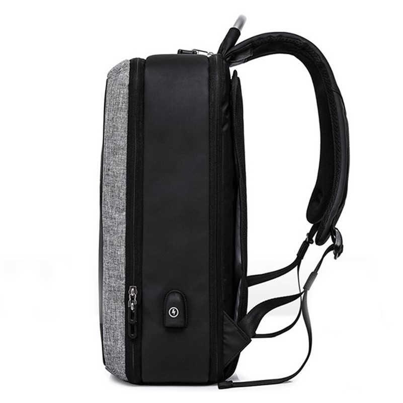 Kaka 2019 novo masculino mochila anti-roubo bolsa para portátil grande capacidade de viagem mochilas de negócios usb de carregamento de 15.6 polegadas computador d402
