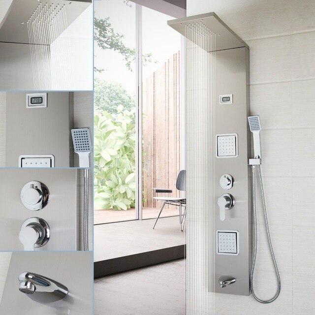 Bathroom Fashion Luxury Shower Column Shower Panel Hand Shower ...