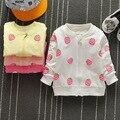 2016 New Autumn Casual Baby Girls Cartoon Strawberry Pattern Children's Long sleeve Outwear Coats cardigan