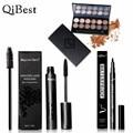 Qibest идеальное сочетание глаз макияж 12 Цветов Профессиональные Ню Тени для век + Mascara + Eyeliner Make up Set