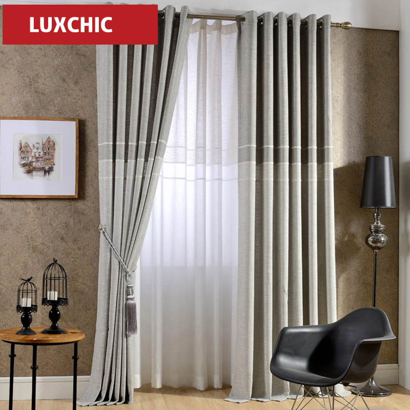 1 pc font b curtain b font and tulle japan Style Jacquard Thick Linen Modern font