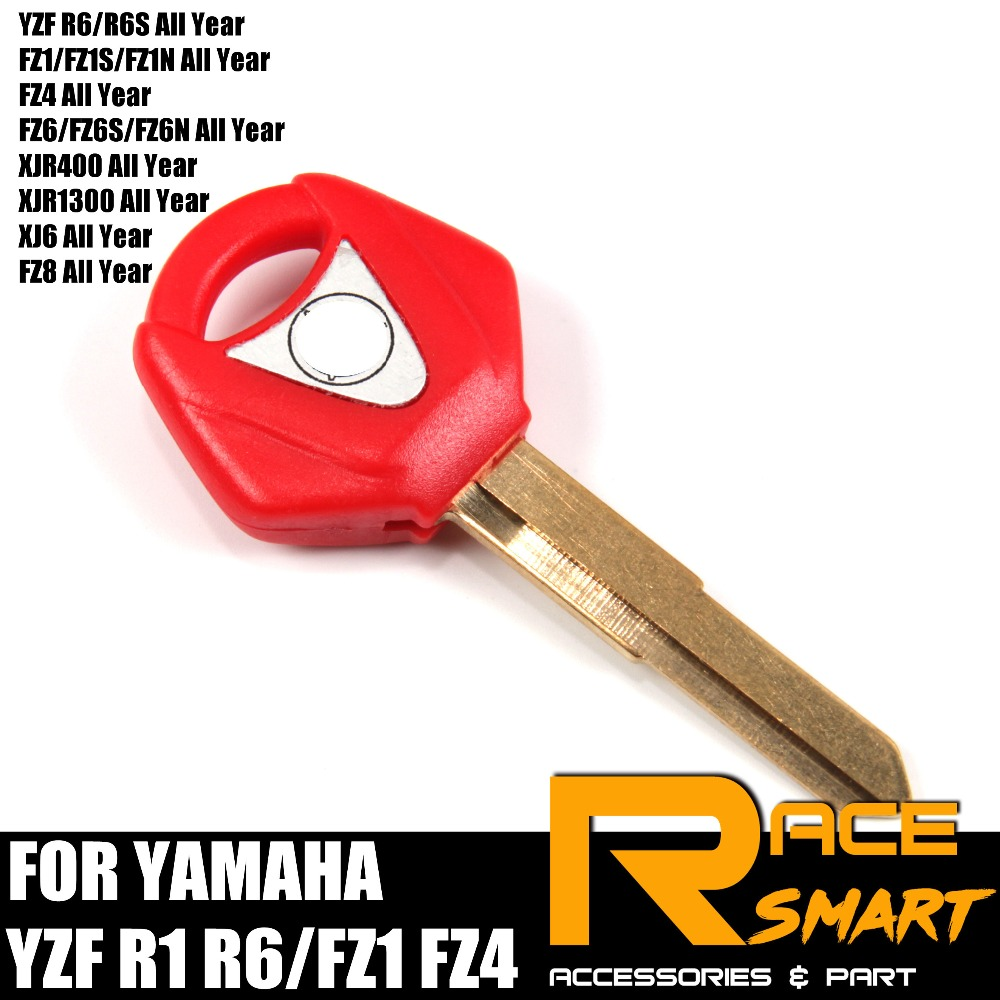 Motorcycle Uncut Blank Key For YAMAHA YZF R1 YZF R6/R6S FZ1/FZ1S/FZ1N All Year  Brutale Blade Keys