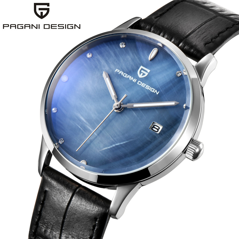 PAGANI DESIGN Casual Business Women Quartz Watch Office Ladies Elegance Leather Strap Watches Waterproof Relogio Feminino 2018 top luxury crystal brief design lady elegance slim strap leather wristwatch waterproof women quartz watch relogio feminino gift