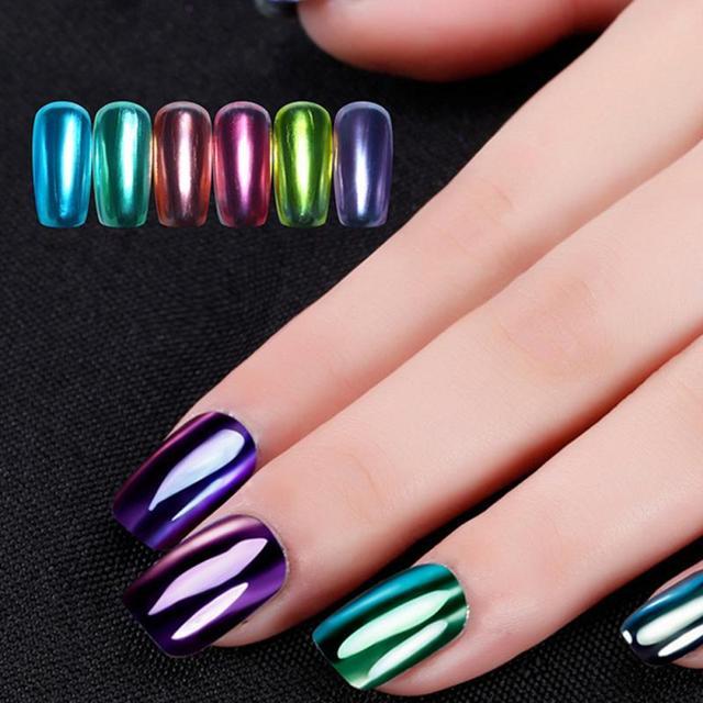 4 unids/set Esmaltes de uñas da las uñas pulido espejo de metal y ...
