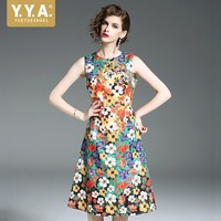 Hot Moda Mujer 2019 Bohemia Floral Dress Female Bodycon Vintage Women Dress Sarafan Dresses For Women Print Dresses Slim S 2XL