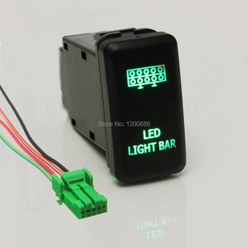 small resolution of 12v 20a bar arb 5p push rocker toggle switch blue led light waterproof switches wire harness in wiring harness from home improvement on aliexpress com