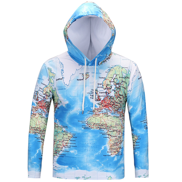 Cloudstyle 2018 new fashion 3d hoodies men world map blue ocean 3d cloudstyle 2018 new fashion 3d hoodies men world map blue ocean 3d print tops crewneck thin gumiabroncs Image collections