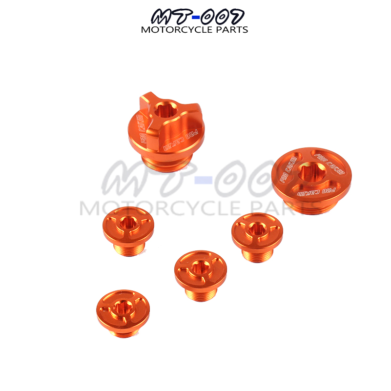 CNC Timing Oil Plug Screw Bolt Set For zong SHEN Motorcycle NC250 NC 250CC Water cool Engine Kayo K6 T6 Dirt Bike Motocross