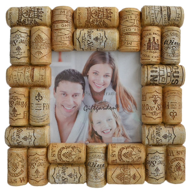 Giftgarden Wine Corks Picture Frame 4x4 Photo Frames Europe Square