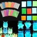 Super Brillante Polvo Fluorescente DIY Pigmento Resplandor Resplandor en la Oscuridad Del Medio Ambiente