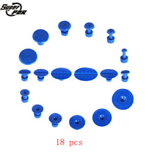PDR Tools 18 pcs  Blue Glue Tabs Dent Suction Cup For Dent Pullers Slide Hammer Paintless Dent Removal Kit Hand Toolkit