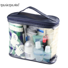 THINKTHENDO PVC Makeup Bags Transparent Cosmetic Bags Travel Organizer Toiletry Bag Bath Wash Make up Box New Fashion new arrival travel pvc cosmetic bags women transparent clear zipper makeup bags organizer bath wash make up tote handbags case
