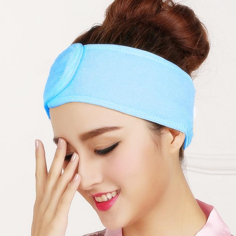 nouveau design sélectionner pour véritable nouvelle version € 1.68 10% de réduction|1 pièces Spa bandeau Facial maquillage Wrap Head  tissu éponge bandeau serviette extensible avec bande magique couleur ...