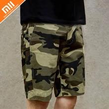 Novo xiaomi MITOWN deserto camuflagem shorts de algodão casuais calções de verão dos homens casuais soltos shorts HOT