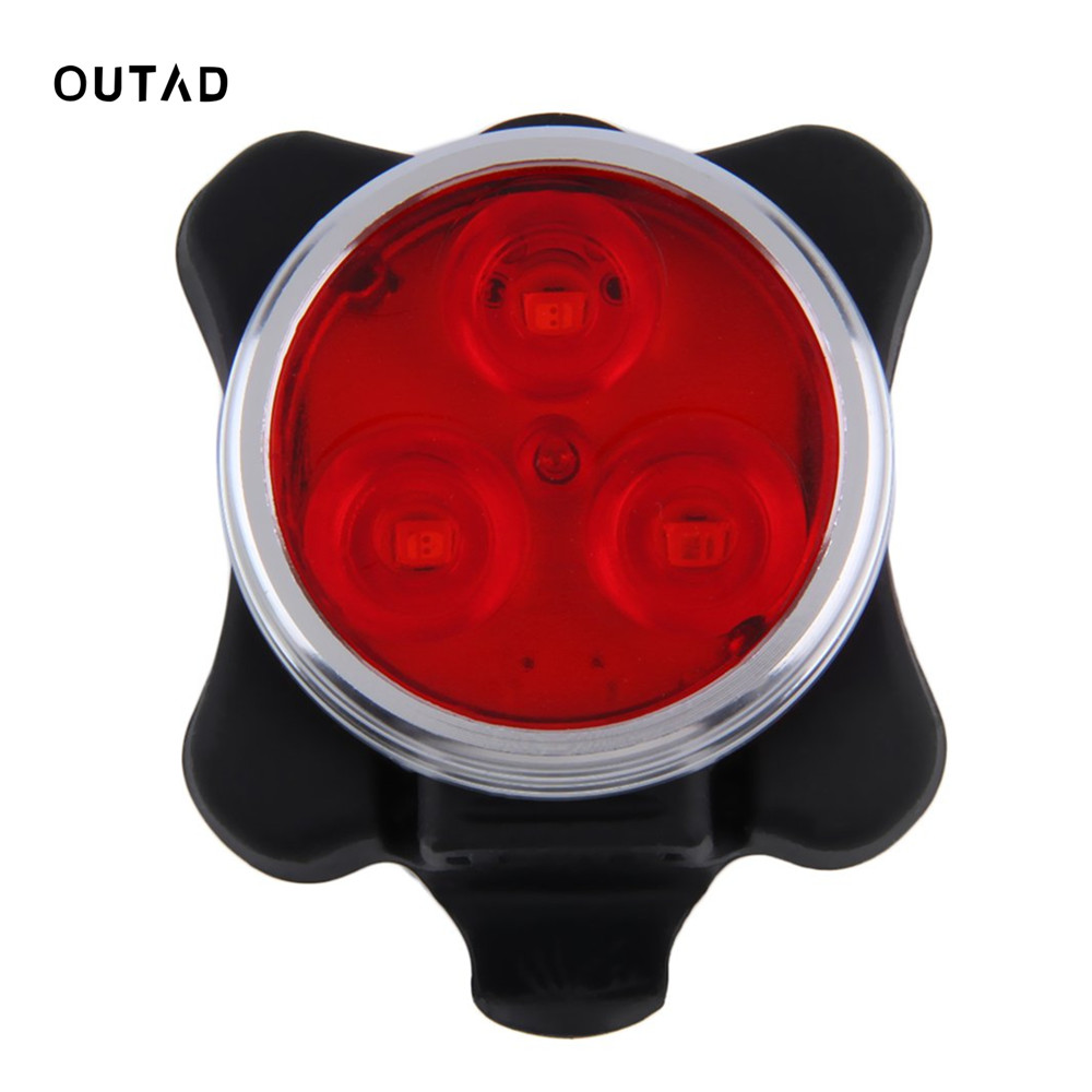 3 LED Bicycle Light Waterproof Bike Front Rear Light 4 Mode Cycling Head Tail Lamp Luces For Night Safety Riding USB Recharge 3 mode 3 led red light bicycle tail lamp 2 x aaa
