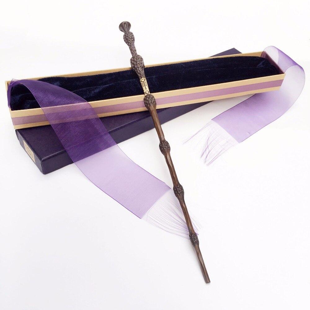 Colsplay nouvelle arrivée métal/fer noyau Sirius Dumbledore vieille baguette/HP magique baguette magique/élégant ruban cadeau boîte d'emballage
