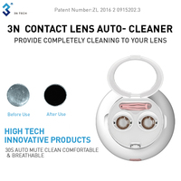 3N Electrical Contact Lens Cleaner Daily Care Portable Contact Lens Accessories Eye Contacts Cleaning Case