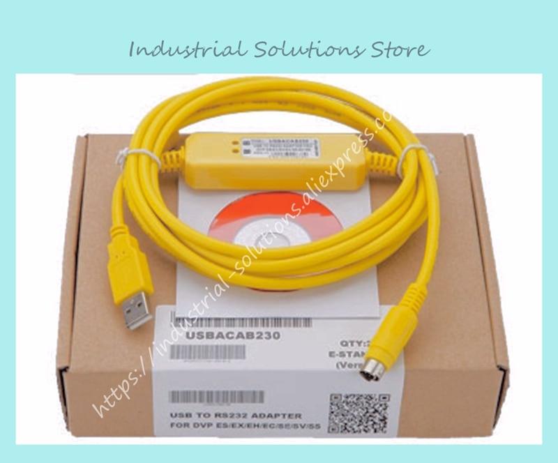 New plc programming cable USBACAB230 usb-dvp yellow second generation win7New plc programming cable USBACAB230 usb-dvp yellow second generation win7