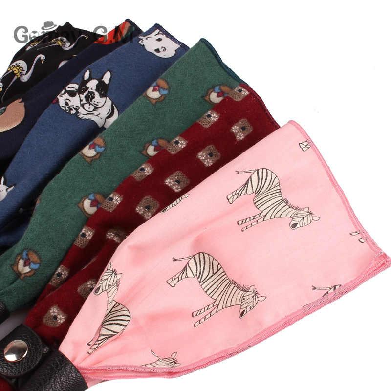 Del fumetto Della Sciarpa Degli Uomini di Stampa di Modo Delle Donne Mens Sciarpe di Cotone di Autunno della Molla Sciarpa casual Pocket Piazza per I Regali di Partito Adulto Wrap