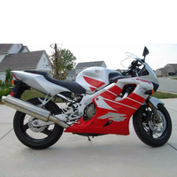 Motorcycle Fairing Injection for 1999 2000 Honda CBR 600 F4 Red w/ Silver Injection Complete Fairing Kit