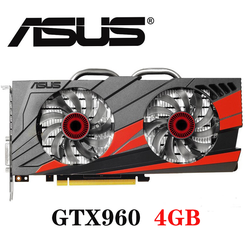 Asus <font><b>GTX</b></font>-<font><b>960</b></font>-OC-4GB <font><b>GTX</b></font> <font><b>960</b></font> GTX960 4GB D5 DDR5 128 Bit nVIDIA PC Desktop Graphics Cards PCI Express 3.0 computer Graphics Cards image