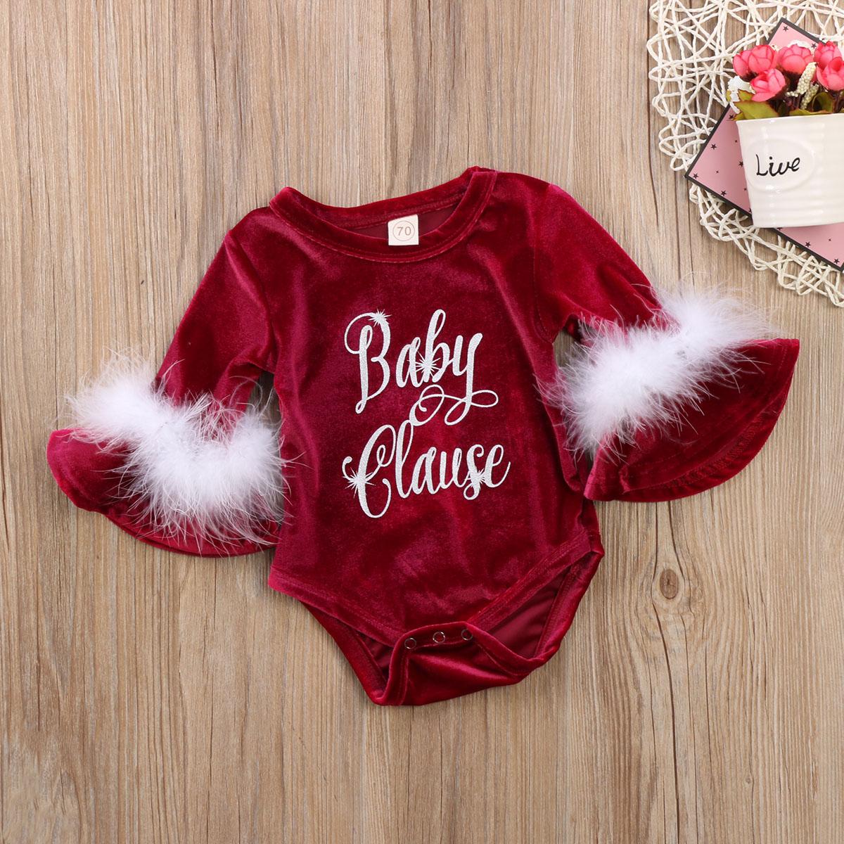 HTB1XDQVaval9eJjSZFzq6yITVXaF Pudcoco 2017 New Pleuche Christmas Baby Girls Romper long sleeves infant newborn baby jumpsuit princess plush clothes xmas gift