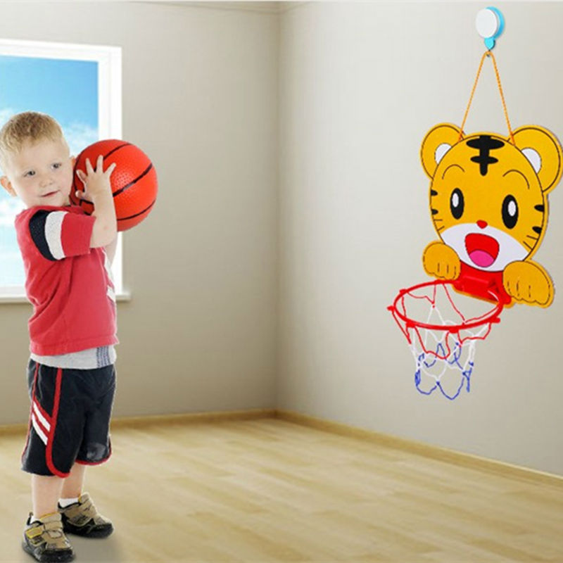Cartoon Portable Kunststoff Basketballkorb Spielzeug Set Basketball Kinder Indoor Outdoor Junior Net Für NBA Fans Kinder Baby Erwachsene