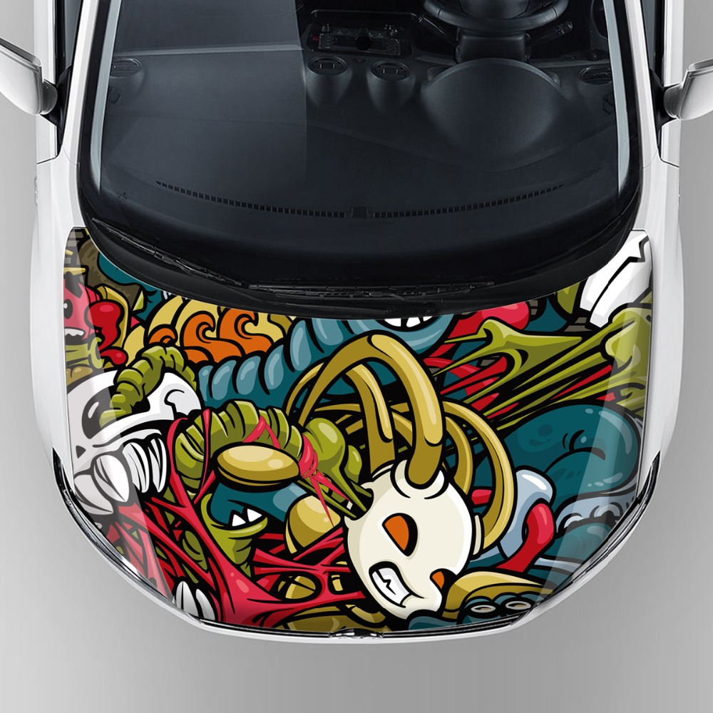 Tiger Head Graphics Racing Vehicle Adhesive Decal Car Decoration - Vinyl wrap for motorcycle helmets