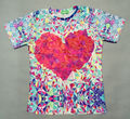 2015 последние camisetas женщины / мужчины галактики трехмерная стеклянные сердца любовь высокое качество с коротким рукавом новеллы 3d майка топ свинарник