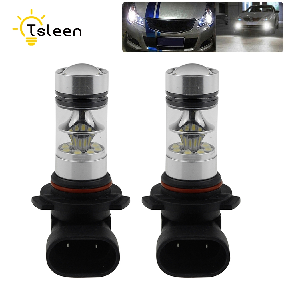 TSLEEN 2/4/8Pcs Car Headlight HB3/9005 Car LED Bulbs 1000LM Fog DRL Rear Xenon Lamp Replace Super Bright HB3 Driving Lens Light tcart 2x 9005 hb3 9006 hb4 dual color car led headlight white yellow headlamp bulbs fog lamps for plips chip 36w auto led light