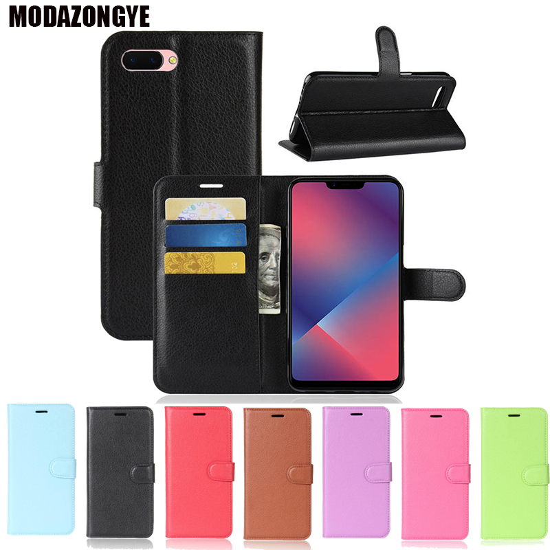 on sale 15ab0 cee5c OPPO A3S Case OPPO A3S Case Cover Luxury Wallet PU Leather Back Cover Phone  Case OPPO A3S A3 S Case Flip Protective 6.2 Inch
