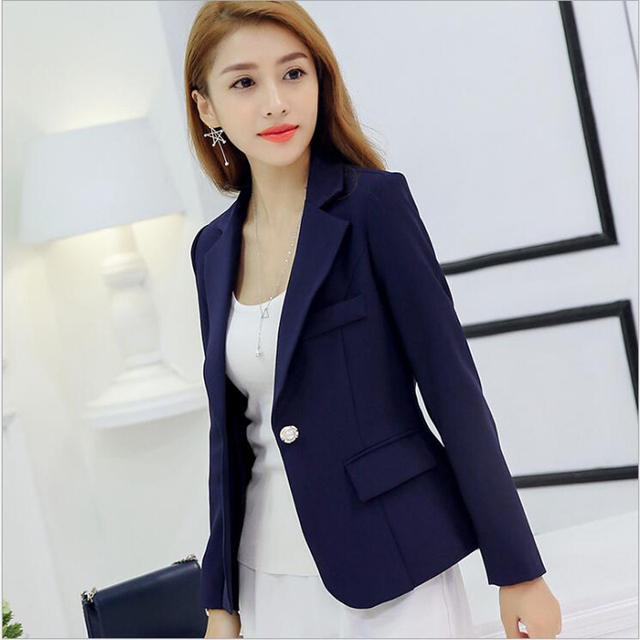 Womens Jackets And Coats Slim Fit Blazer Women Formal Jackets Office Work Notched Ladies Blazer Coat vadim feminino abrigo mujer 3