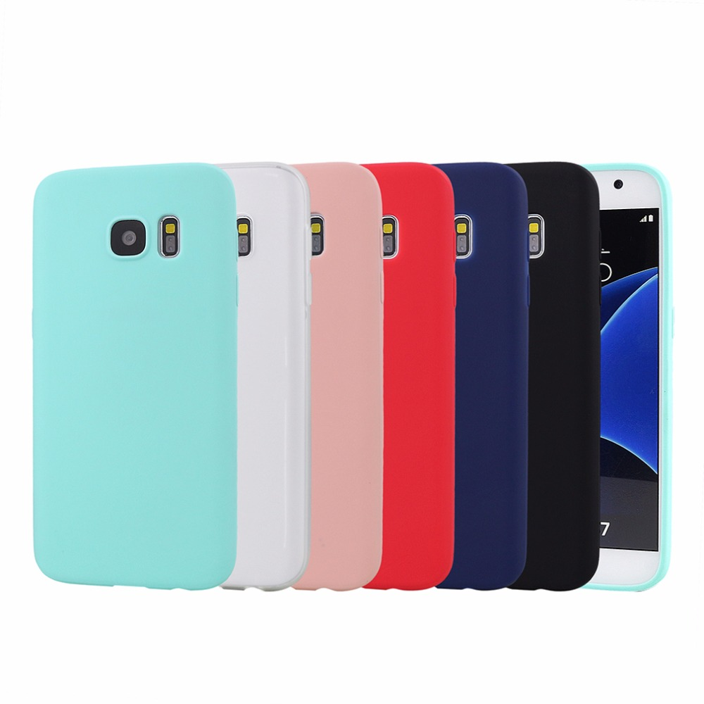 New UltraThin Candy TPU Matte Case For Samsung Galaxy S7 S7 edge Silicone Gel Soft Back Cover