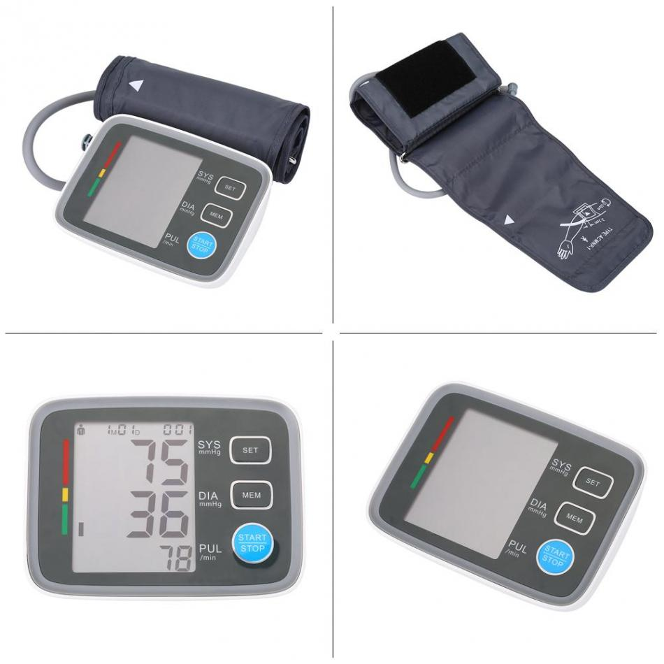 2018 Medical Equipment LCD Digital Electronic Arm Blood Pressure Monitor