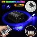 Kit de luz de techo de estrella de fibra óptica LED parpadeante 300 piezas * 2 m * 0,75mm fibra óptica + 28 llave remota 16 W RGBW Motor de luz DIY iluminación