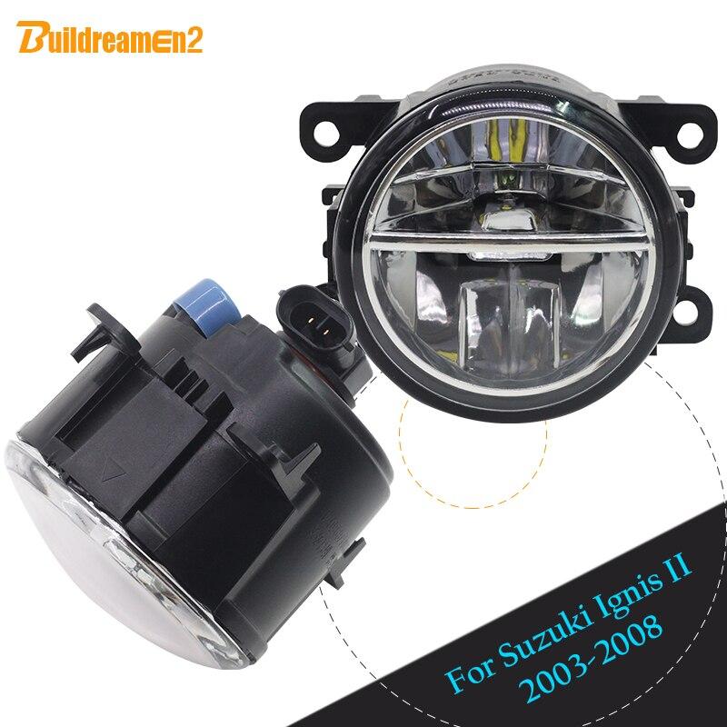 Buildreamen2 2 Pieces Car LED Fog Light Daytime Running Light DRL 12V For 2003-2008 Suzuki Ignis II Closed Off-Road Vehicle цена