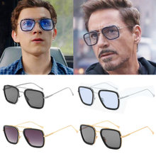 Eisen-Mann Gläser Film Superhero Peter Parker Cosplay Edith Sonnenbrille(China)