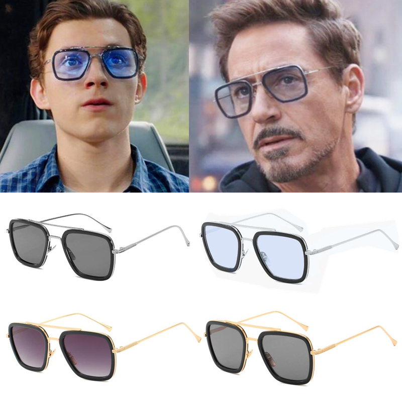 Spiderman Far From Home Iron-Man Glasses Movie 2019 Peter Parker Cosplay Spider Man Edith Sunglasses