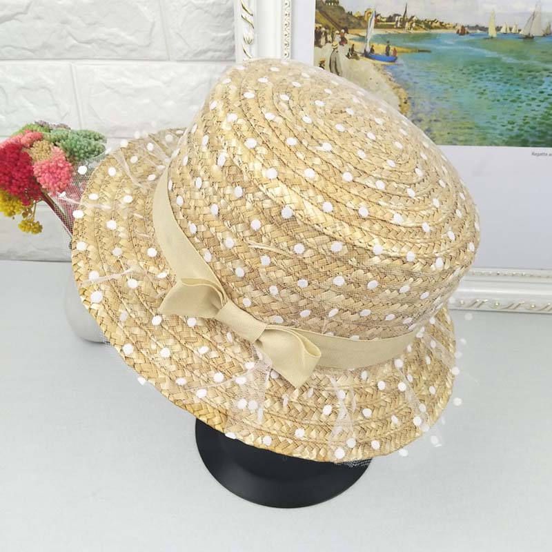 summer lady sweet wave point wheat straw hats sun hat outdoor tourism cute female cap sun screen sun caps