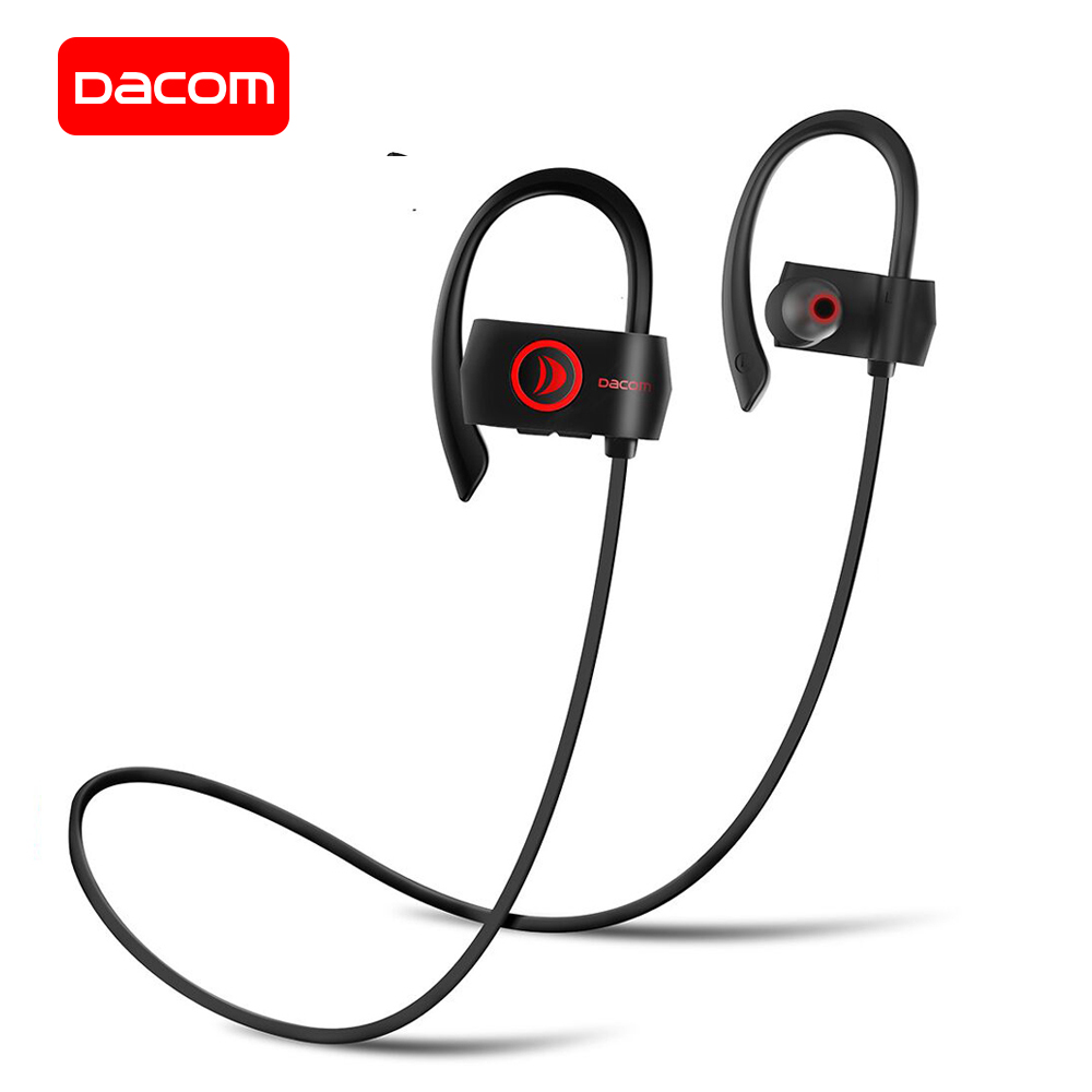 DACOM Bluetooth Earphone IPX7 Waterproof Wireless Sports Headphones with Microphone Running Headset for iPhone Samsung Xiaomi dacom l15 wireless headphones sports bluetooth earphone 5 0 stereo ipx5 waterproof running headset 10h music for iphone samsung