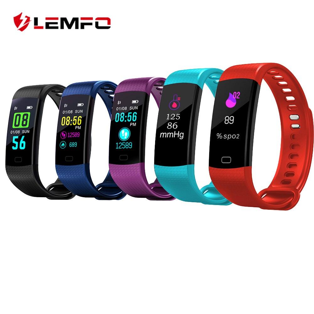 2111d4c8898a Cheap LEMFO Y5 pulsera inteligente Monitor de ritmo cardíaco rastreador de  Fitness Y5 Smartband pulsera inteligente
