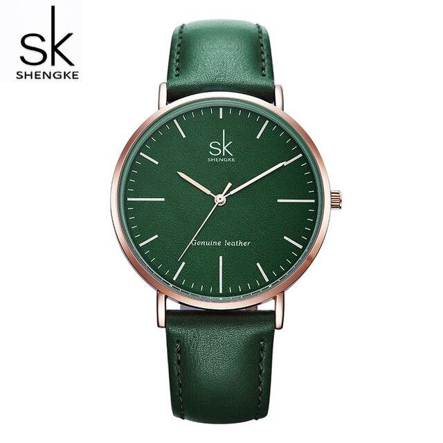 3e55a447559 Shengke Casual Women Leather Watches Luxury Quartz Clock Ladies Fashion  Wrist Watch Reloj Mujer 2019 SK Women s Day Gift  K0082
